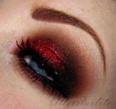 röd makeup