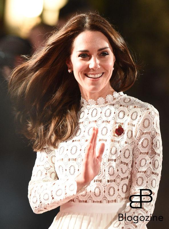 3 November 2016. Catherine Duchess Of Cambridge arrives at the world premiere of A Street Cat Named Bob in Mayfair London Credit: Neil Warner/GoffPhotos.com Ref: KGC-195