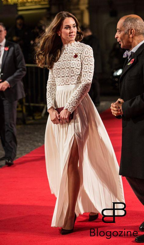 """3 November 2016. The Duchess of Cambridge arrives at the Curzon cinema in Mayfair, London for the premiere of the film """"A Street Cat Named Bob"""" in aid of the charity """"Action on Addiction"""" of which she is a patron. A Street Cat Named Bob tells the true story of the unlikely friendship between a young homeless busker, James Bowen, and the stray ginger cat who changes his life. The charity """"Action on Addiction"""" brings help, hope and freedom to those living with addiction and those living with people who suffer problems of addiction. It is the UK's only charity working across the addiction field in treatment, professional education to honours degree level, support for families and children, research, and campaigns. Credit: RPohle/Ken Goff Rota/GoffPhotos.com Ref: KGC-375 **No UK Sales Until 28 Days After Create Date**"""