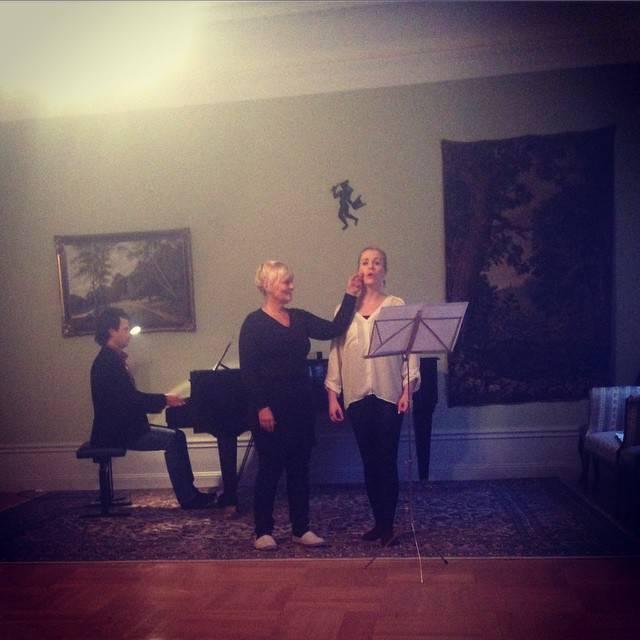 Jag men min sångpedagog Birgitta Larsson