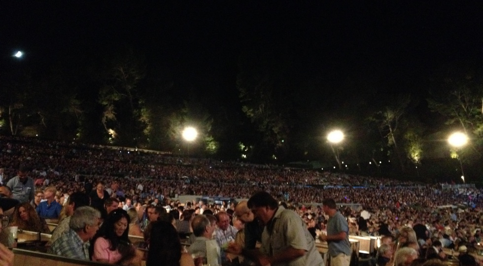 14000 people in the audience at Hollywood Bowl.