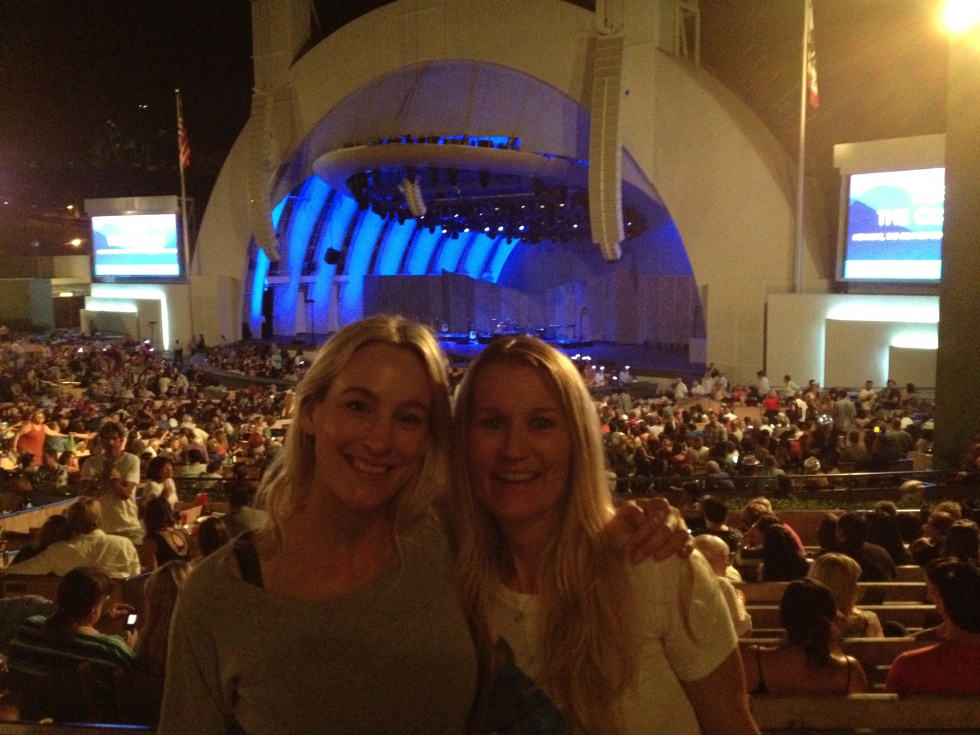 Me and Birgitta at Hollywood Bowl waiting for ABBA: The Concert.