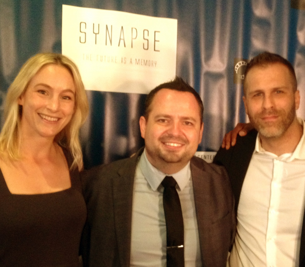 Red carpet with the director Kenlon and the screenwriter Adam.