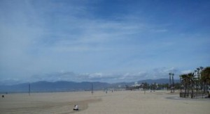 Venice Beach, view towards Malibu.