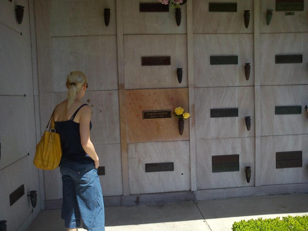 Marilyn Monroe's grave in Westwood.