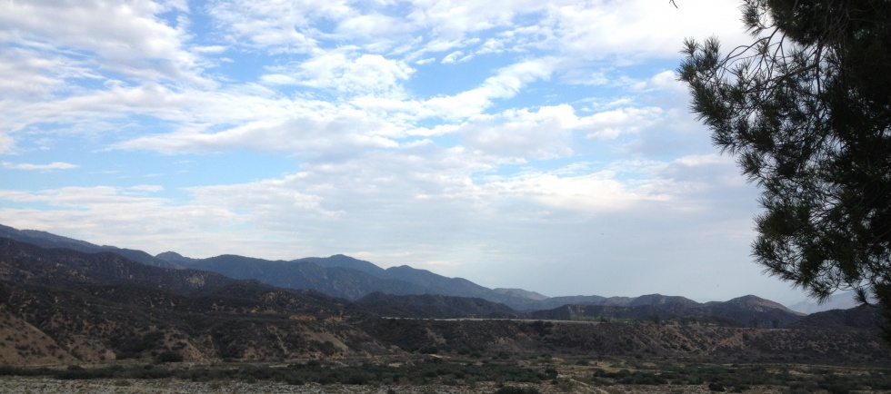 Mountains of Banning Canyon.