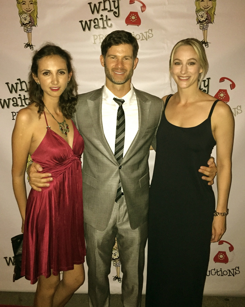 On the red carpet with Maria and Tomek, who plays the male lead in Lost In Time.