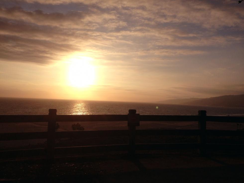 Beautiful sunset in Santa Monica.