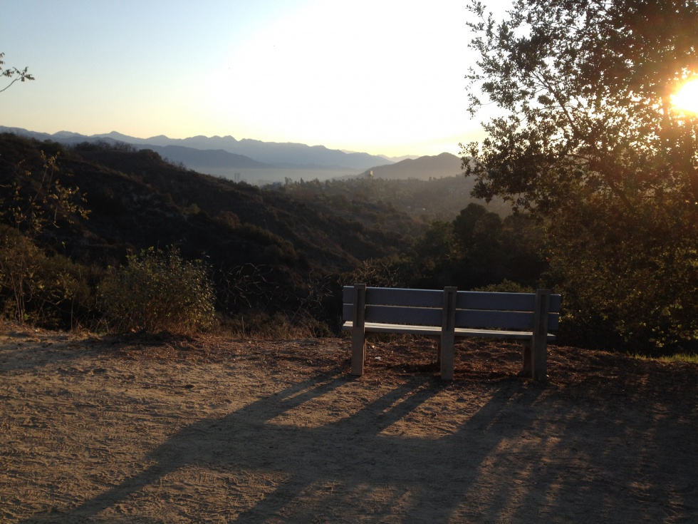 Sunrise in Coldwater Canyon Park.