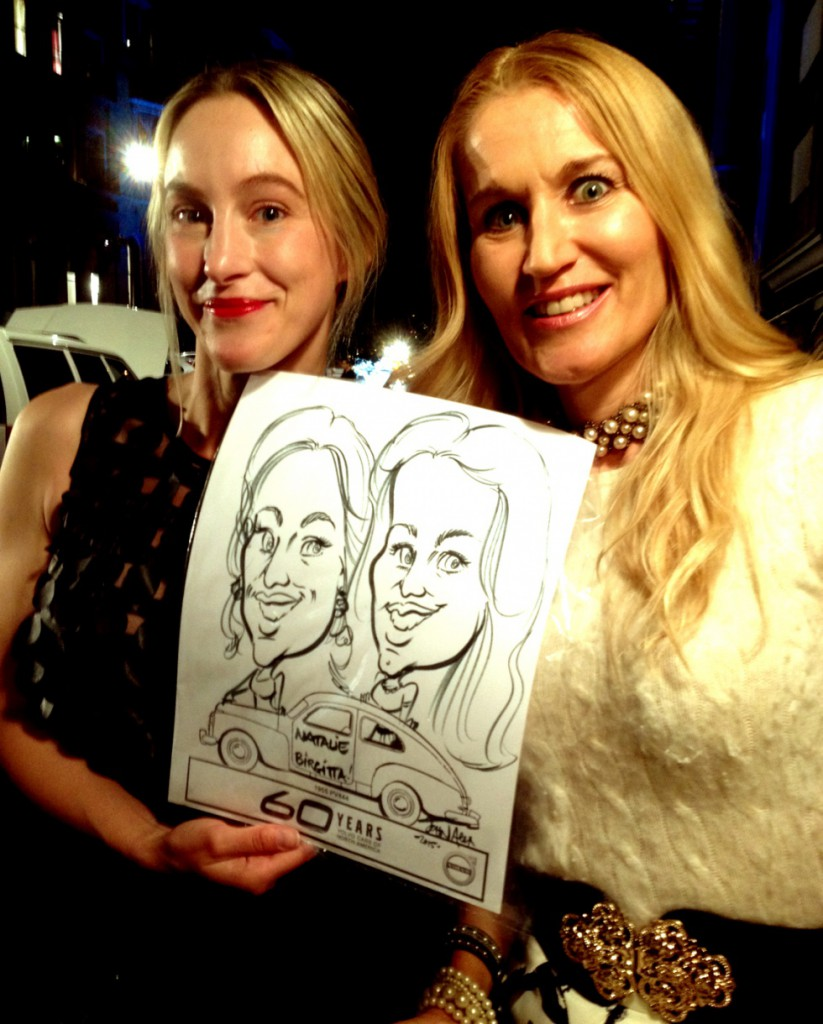 I and Birgitta got a caricature made. Who is who...? ;)