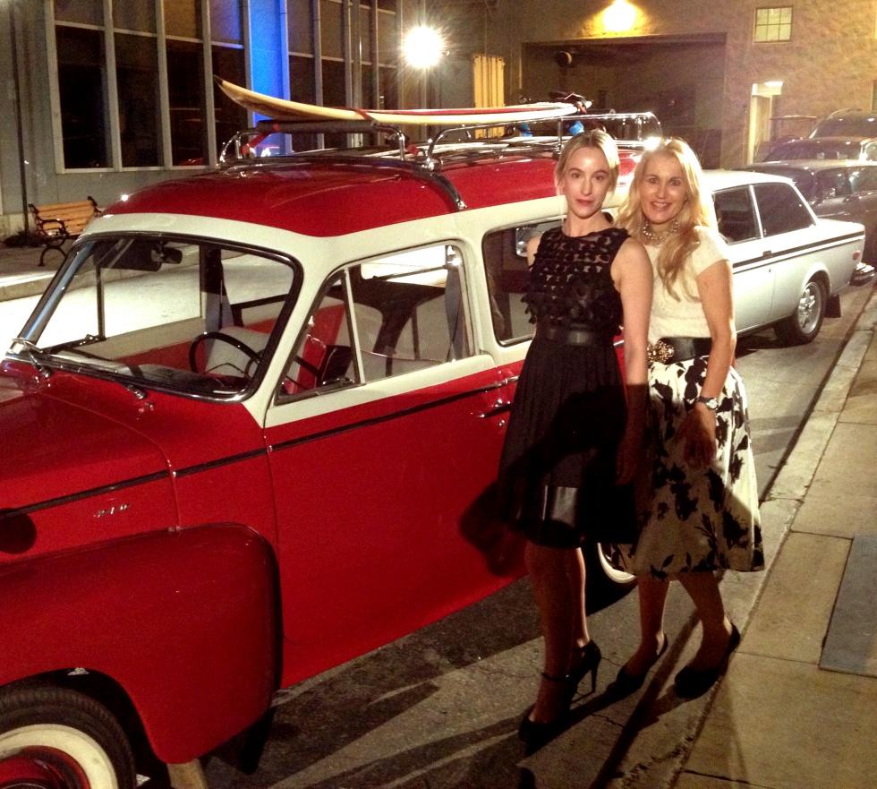 Beautiful Volvo, me and Birgitta.