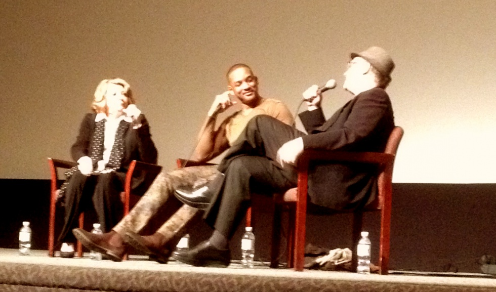 "Q&A with Will Smith and Albert Brooks after the screening of ""Concussion""."