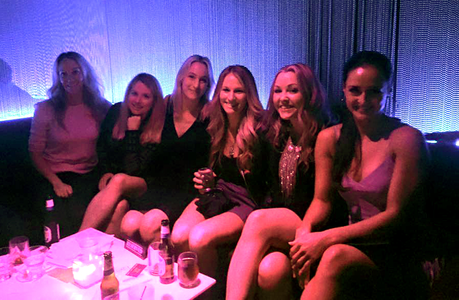 The girls at the party.