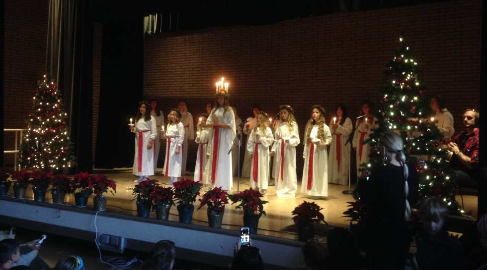 The beautiful Lucia procession.