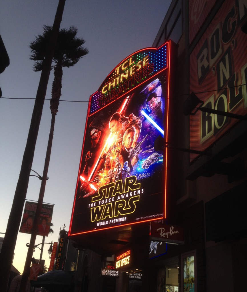 "World premiere of ""Star Wars - The Force Awakens""."