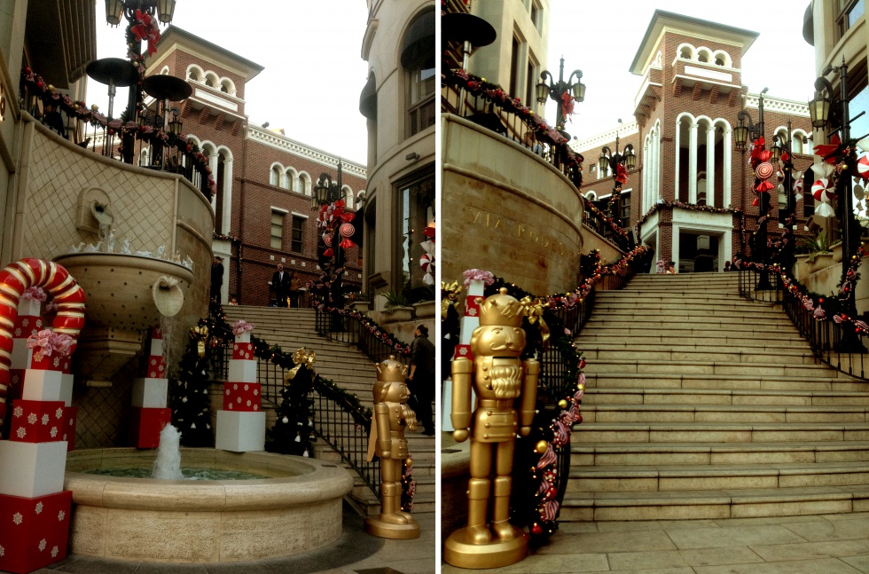 The Spanish Steps à Beverly Hills in the Xmas mood.
