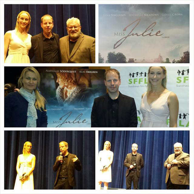 Last year's screening of Miss Julie followed by Q&A with me and director Mikael Berg.