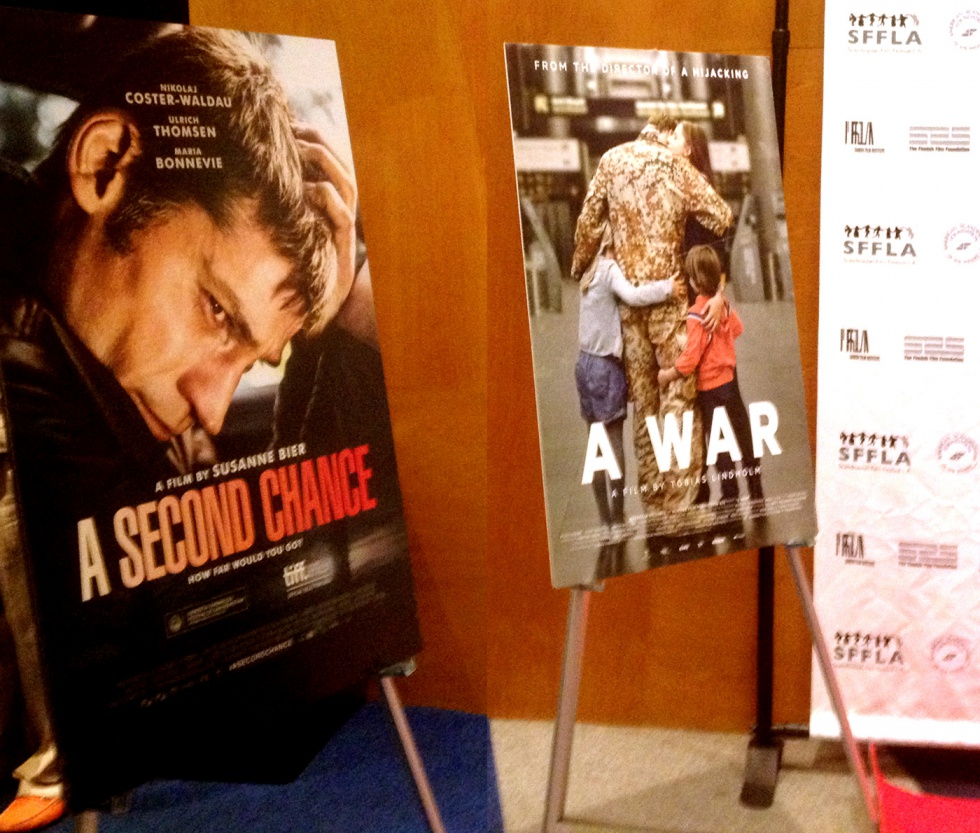 Two of the Danish movies screened this year: A Second Chance by Susanne Bier and their Oscar nomination A War.