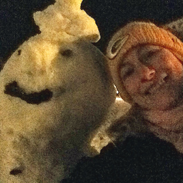 Me and Mr Frosty.