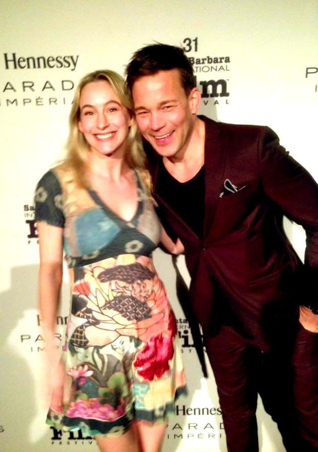 Red carpet with Swedish actor of Force Majeure, Johannes Bah Kuhnke