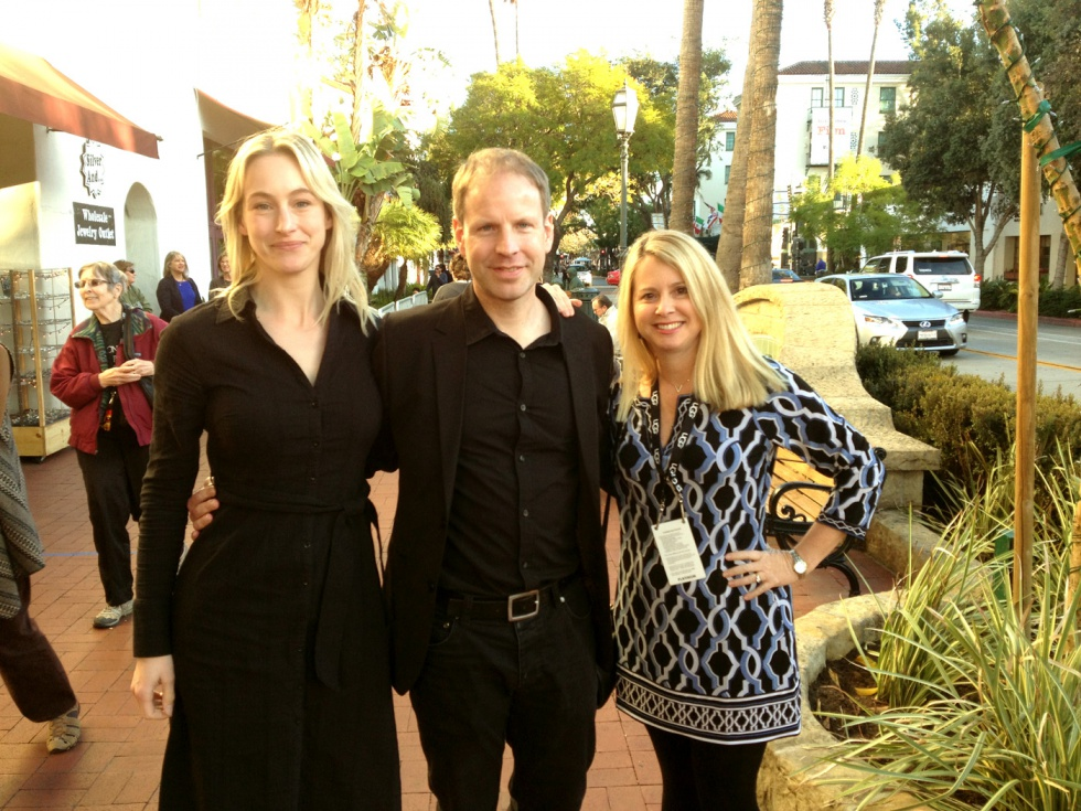 At Santa Barbara International Film Festival with director Mikael Berg and producer Kim De Venne.