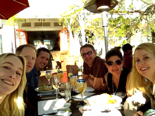 Lunch between events at a great Mexican place in Santa Barbara with Mikael, Jim, Palli, Lisa and Kim.