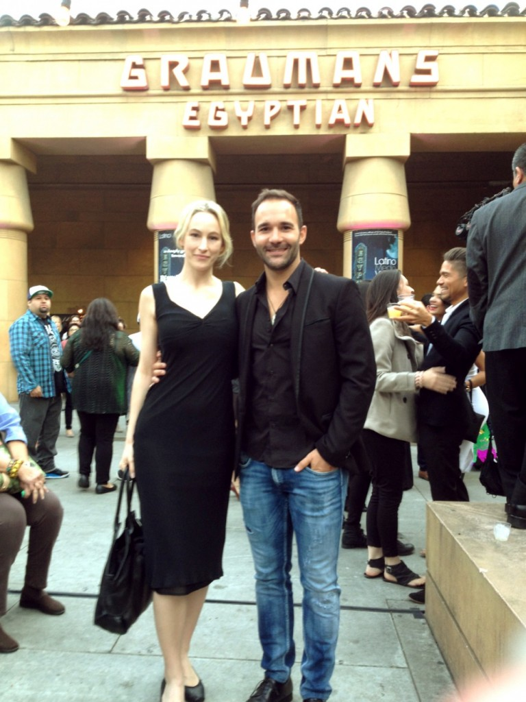 Me and Spanish actor Jesus outside The Egyptian.