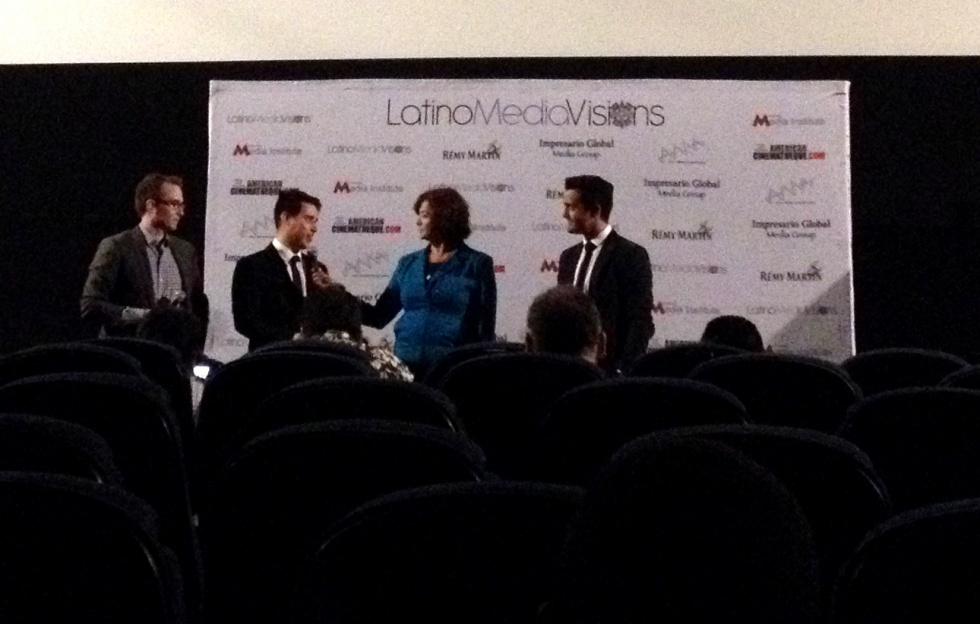 Q&A after the screening with director Michael May, writer and actor Omar Mora and actor Adrian Nunez.