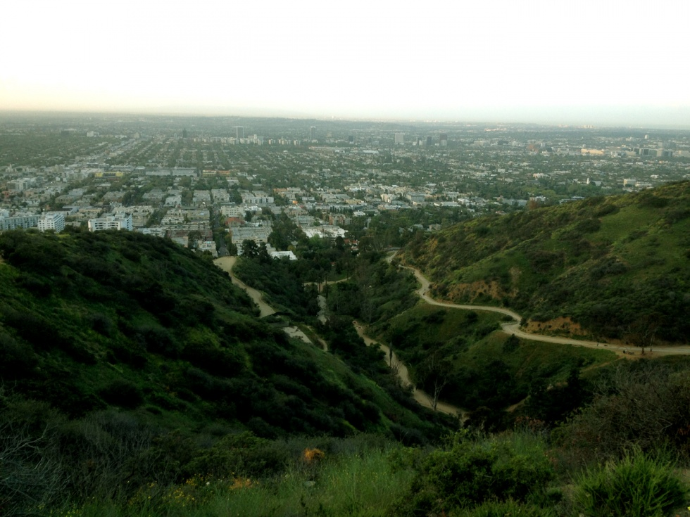 Two of the trails with West Hollywood in the background.
