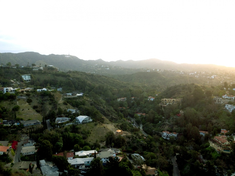 You can see the Hollywood sign from the top.