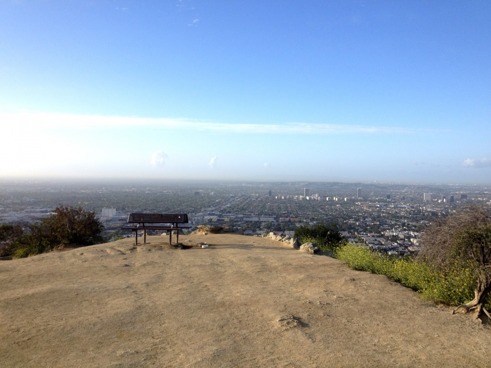 Looking out over Los Angeles from the top of Runyon Canyon.