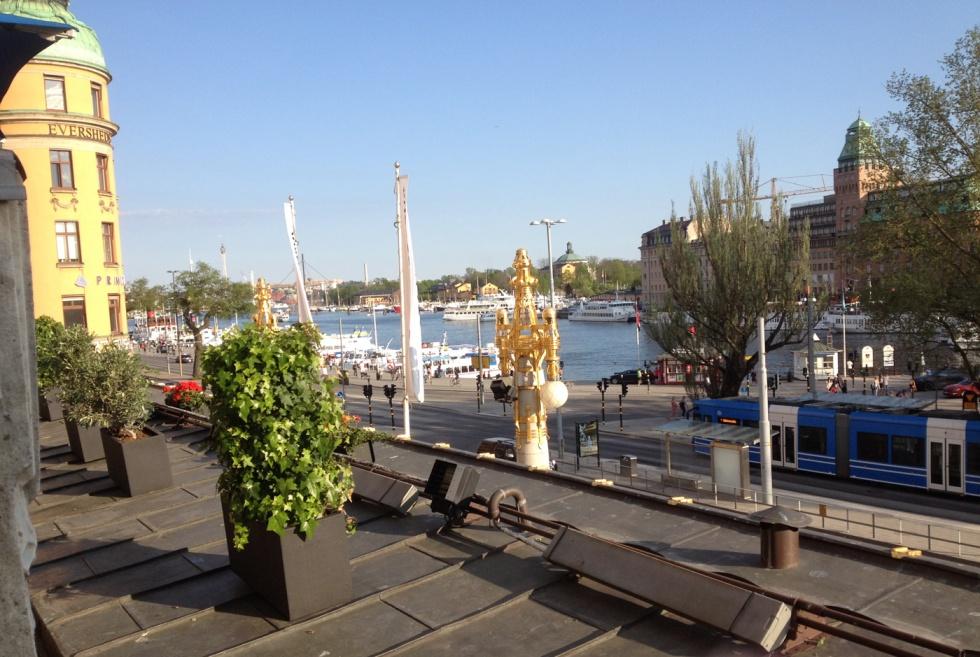 The beautiful view from Dramatenterrassen.