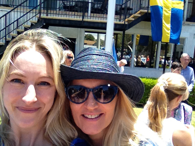 Me and Birgitta celebrating Sweden's National Day at the Swedish church.