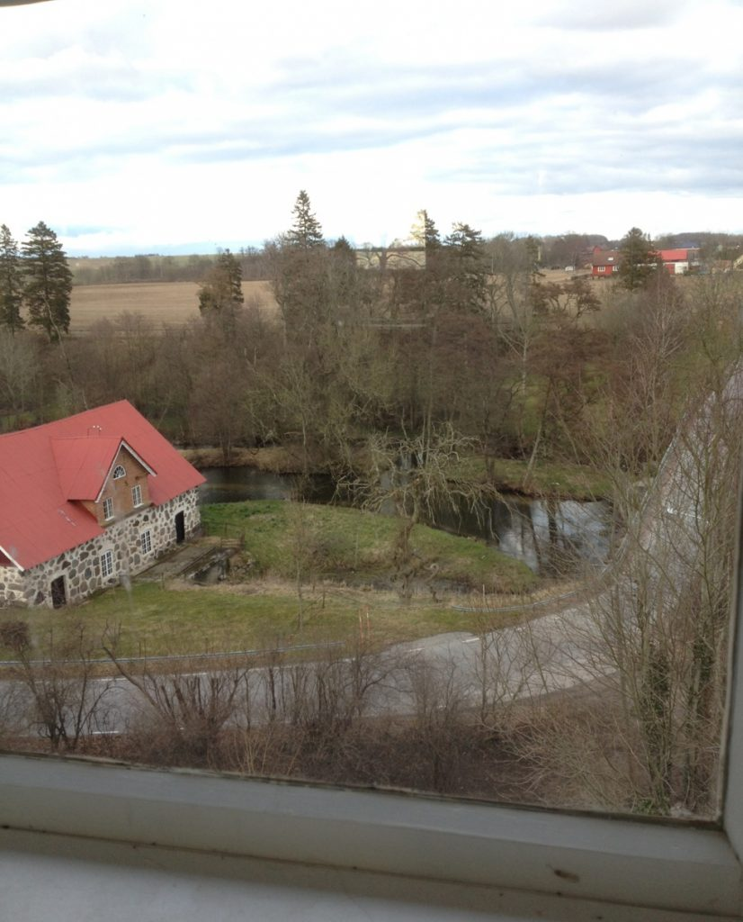 The view from the tower of the house.