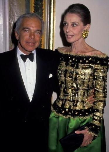 AUdrey Hepburn wearing ralph lauren