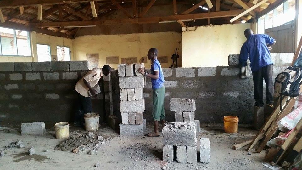 skolbygge i Tanzania