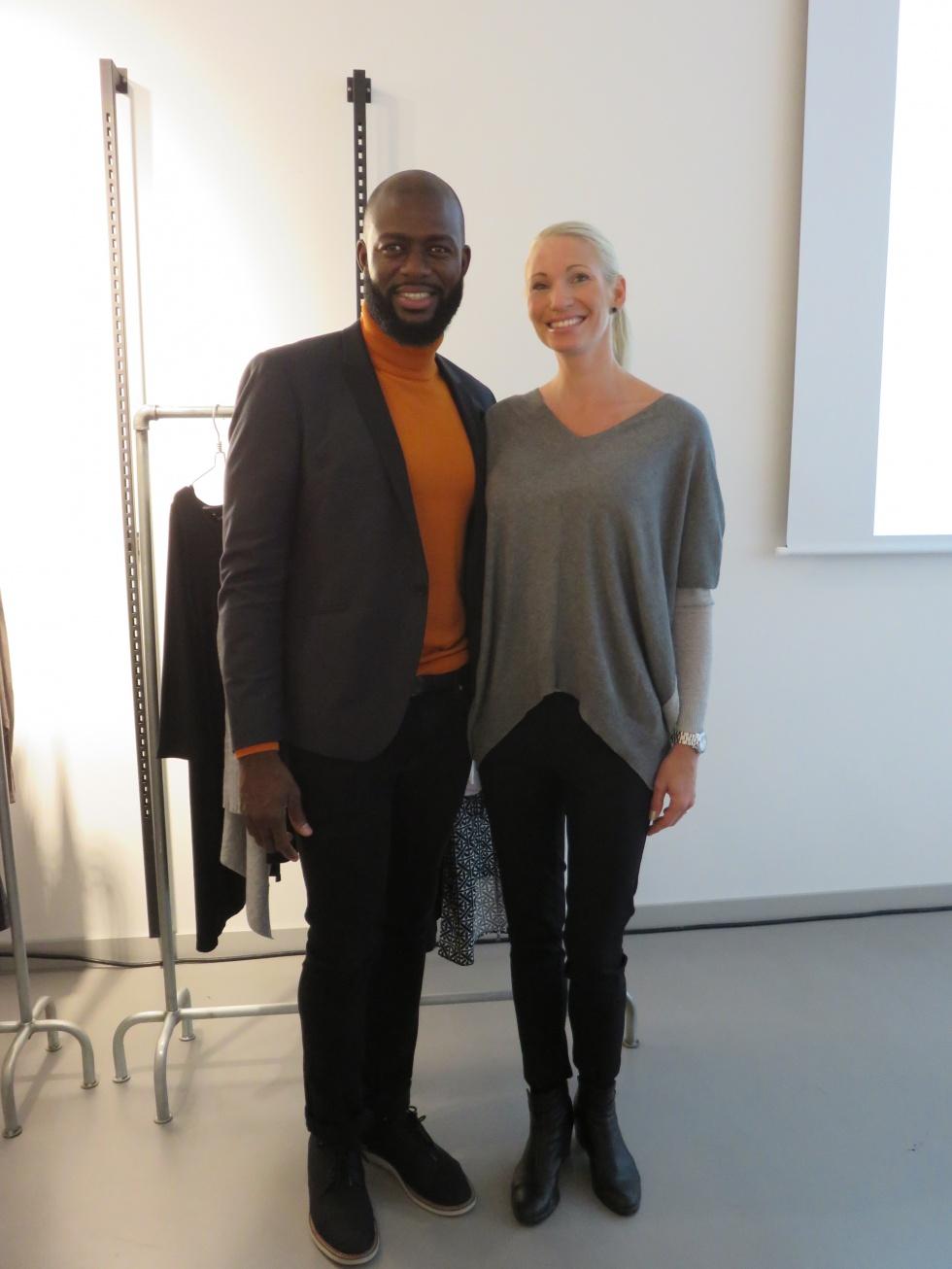 KappAhls design manager Paul tillsammans med Malin Tilja