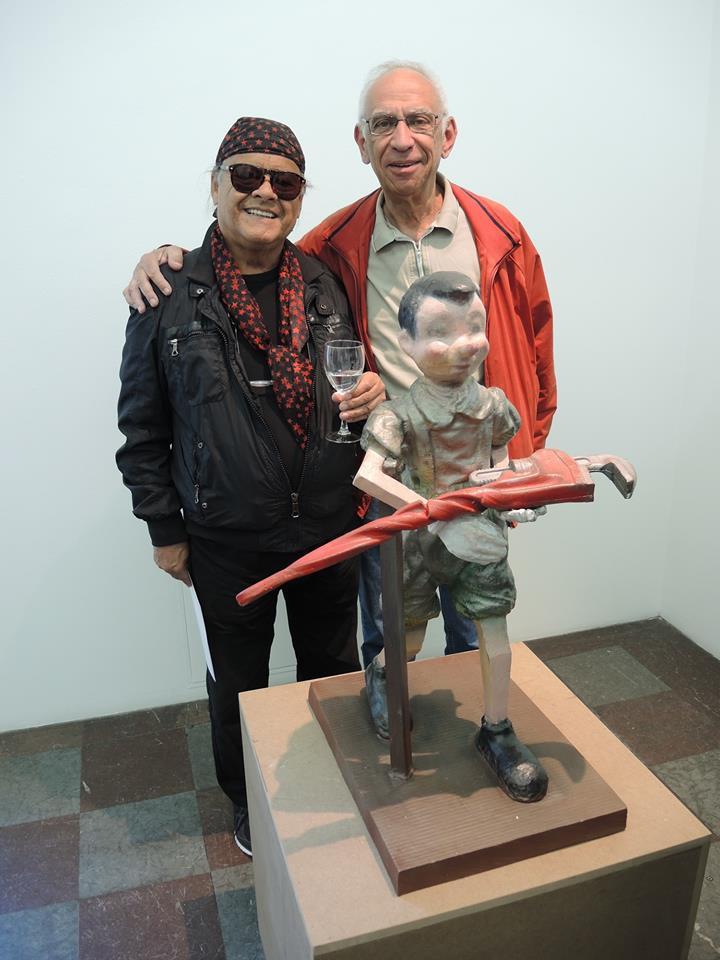 Med konstnären Ardy Strüwer.