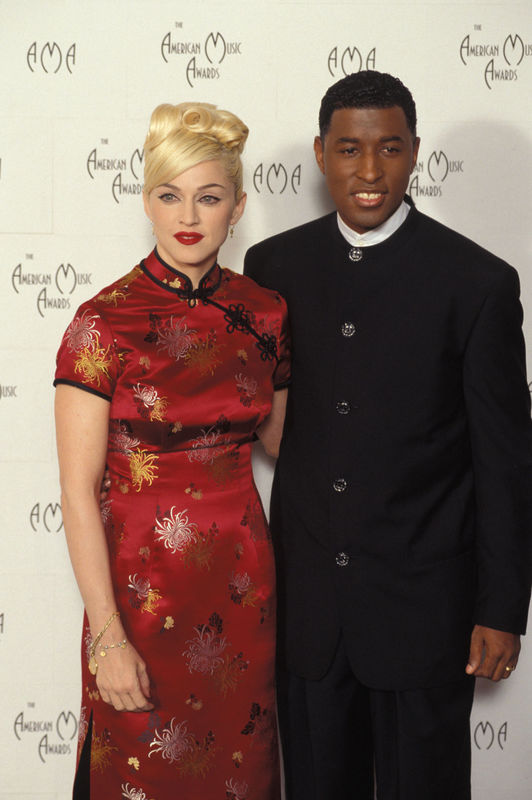 Madonna and Baby Face at the American Music Awards in 1995 Photo: Spike Nannarello/Shooting Star Code: 4024 COPYRIGHT STELLA PICTURES