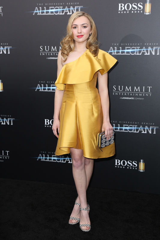 "Peyton List - Première du film ""Allegiant"" à New York le 14 mars 2016. New York premiere of 'Allegiant' at the AMC Lincoln Square Theater on March 14, 2016 in New York City."