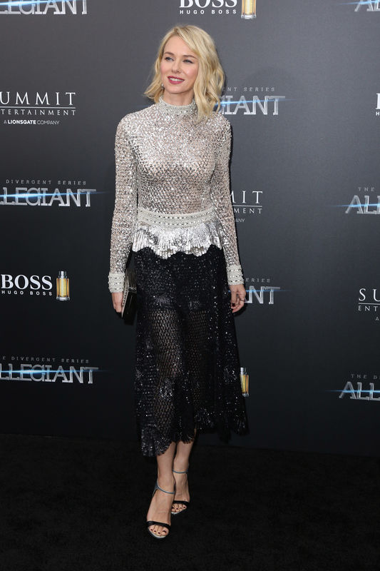 "Naomi Watts - Première du film ""Allegiant"" à New York le 14 mars 2016. New York premiere of 'Allegiant' at the AMC Lincoln Square Theater on March 14, 2016 in New York City."