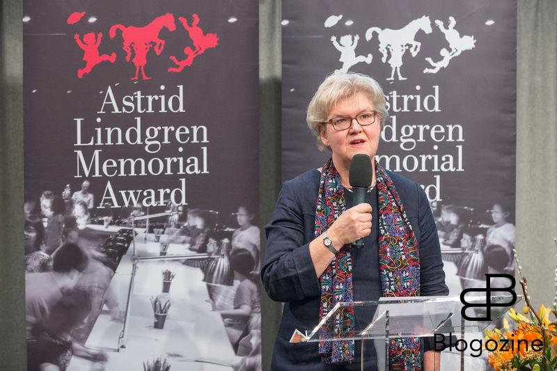 Gunilla Herdenberg. In today was the ALMA Award Astrid Lindgren Memorial Award presented at the Royal Library in Stockholm. This year's prize winner, 2016, was the American author Meg Rosoff, 59th - She never leaves the reader indifferent, says the jury. The prize money is five million Swedish crowns and is the world's largest international children's and young adult literature. Arts Council Chairman Ulrika Stuart Hamilton, Culture and Democracy Minister Alice Bah Kuhnke began the announcement of this year's recipient of the Astrid Lindgren Memorial Award. Kungliga biblioteket, Stockholm, 2016-04-05 (c) Pelle T Nilsson/Stella Pictures