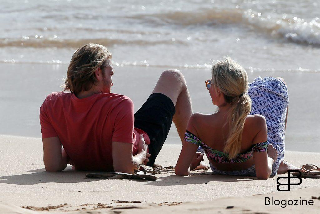 52092952 Couple Wyatt Russell & Sanne Hamers are spotted packing on the PDA while enjoying a beach day in Maui, Hawaii on June 14, 2016. The happy couple are currently in town enjoying the Maui Film Festival. FameFlynet, Inc - Beverly Hills, CA, USA - +1 (310) 505-9876  COPYRIGHT STELLA PICTURES