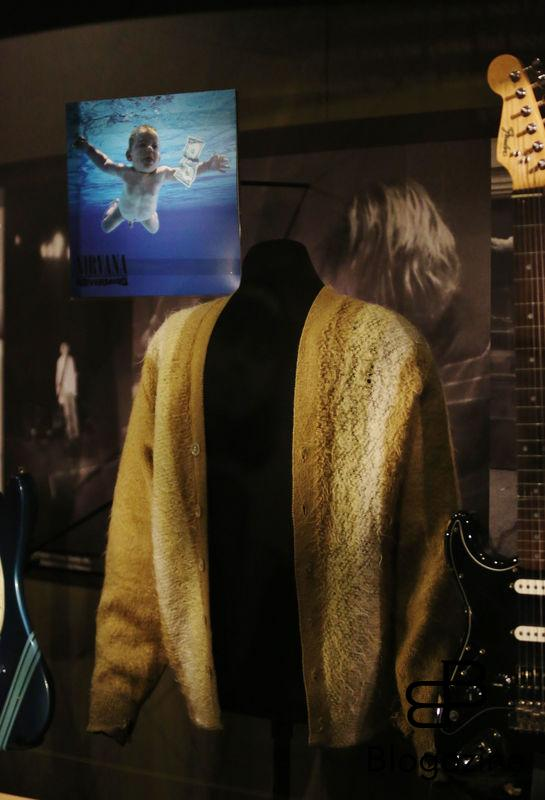 Exclusive... 52206929 General views of the Kurt Cobain exhibit at the Experience Music Pavilion Museum in Seattle, Washington on October 18, 2016. The exhibit is only available for a limited time and showcases some of his favorite guitars and other memorabilia. FameFlynet, Inc - Beverly Hills, CA, USA - +1 (310) 505-9876