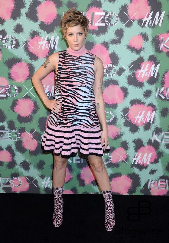 Halsey attends Kenzo x H&M collection launch at Pier 36 in New York City, NY, USA, on October 19, 2016. Photo by Dennis Van Tine/ABACAPRESS.COM