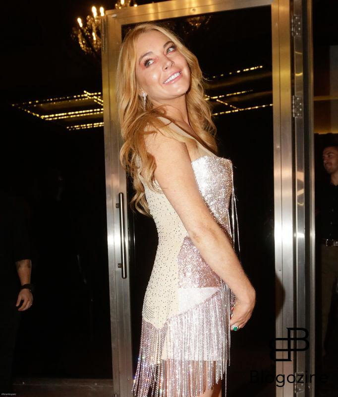 52204286 Lindsay Lohan attends the opening of her new club 'Lohan' in Greece on October 15, 2016. The grand opening featured people in LED lighted suits, classy dresses and Lindsay Lohan blowing kisses to the camera. The group appeared to be thoroughly enjoying their time out. At one point, Lindsay was being interviewed by a slew of reporters. FameFlynet, Inc - Beverly Hills, CA, USA - +1 (310) 505-9876 RESTRICTIONS APPLY: NO GREECE