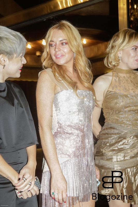52204277 Lindsay Lohan attends the opening of her new club 'Lohan' in Greece on October 15, 2016. The grand opening featured people in LED lighted suits, classy dresses and Lindsay Lohan blowing kisses to the camera. The group appeared to be thoroughly enjoying their time out. At one point, Lindsay was being interviewed by a slew of reporters. FameFlynet, Inc - Beverly Hills, CA, USA - +1 (310) 505-9876 RESTRICTIONS APPLY: NO GREECE