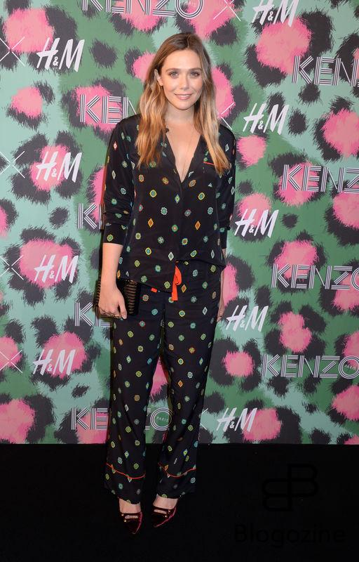 Elizabeth Olsen attends Kenzo x H&M collection launch at Pier 36 in New York City, NY, USA, on October 19, 2016. Photo by Dennis Van Tine/ABACAPRESS.COM