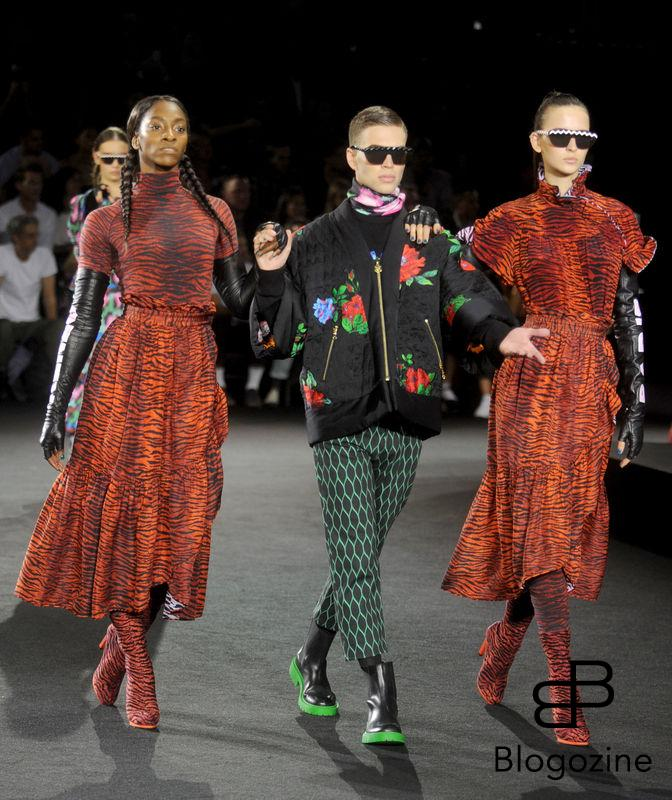 Models walk the runway at the Kenzo x H&M launch event directed by Jean-Paul Goude at Pier 36 on October 19, 2016 in New York City, NY, USA. Photo by Dennis Van Tine/ABACAPRESS.COM