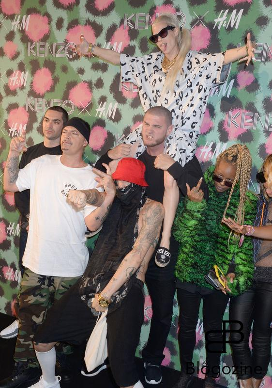 Die Antwoord, Watkin Tudor Jones, Yolandi Visser attend Kenzo x H&M collection launch at Pier 36 in New York City, NY, USA, on October 19, 2016. Photo by Dennis Van Tine/ABACAPRESS.COM